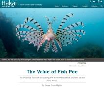Fish pee